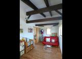 子供室:化粧梁には床板をつけるとロフトに早変わり