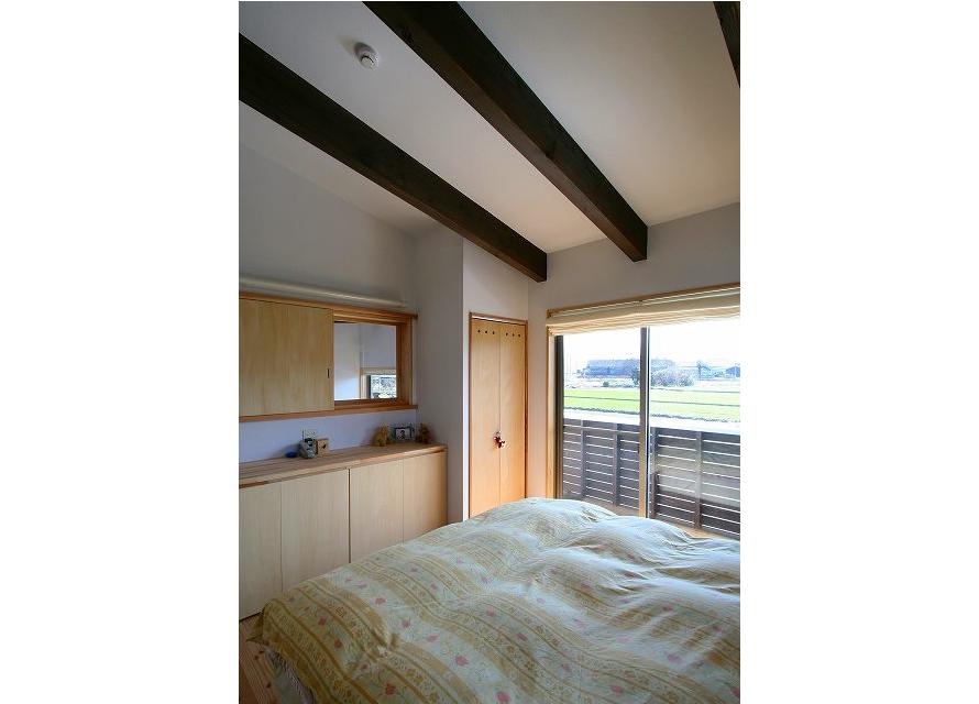 寝室:職業柄日中睡眠をとるための明かり遮断の工夫